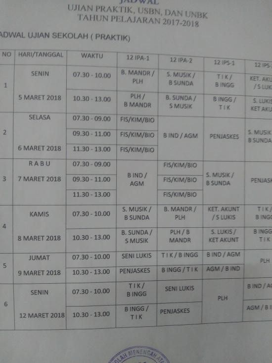 Jaswal ujian praktek tapel 20172018